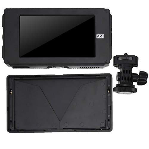 Mxzzand 1920x1080 Monitor de Video con Visor Profesional 4K HD Compatible con Entrada/Salida 4K HD