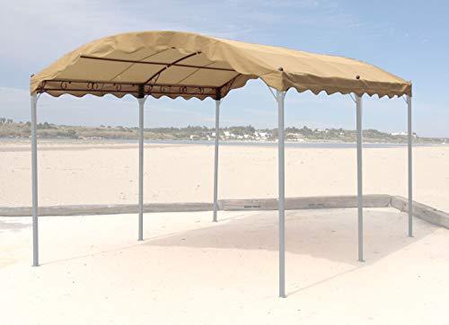 QUICK STAR Ersatzdach zu Bogenpergola 3x4m Sand Pavillon Pergola