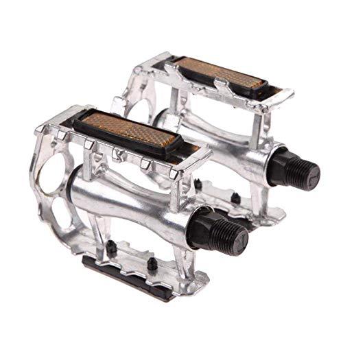 ZZXXMM Pedal de Bicicleta Ultraligero MTB Bicicleta Pedal Parcial Aleación de Aluminio Pedal de Jaula Plana Hueca Ultraligero