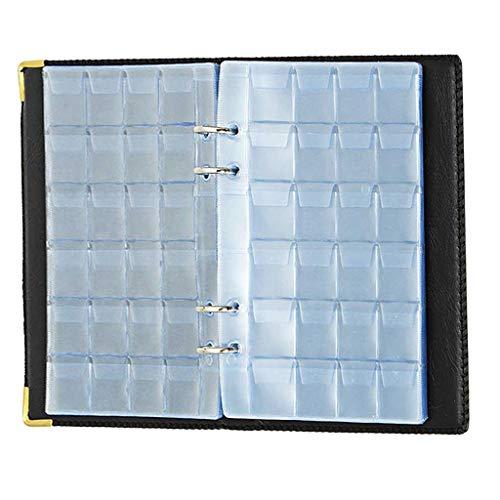 MYhose Libro de colección 480 Piezas Libro de Almacenamiento de Monedas Colección de Monedas conmemorativas Porta álbumes Collec Negro