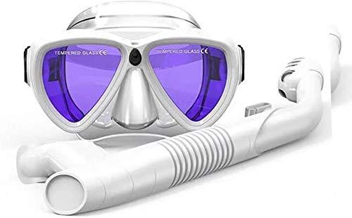 ZouYongKang Juego de snorkel, máscara de snorkel en seco antideslizante para jóvenes, niño, anti-niebla, snorkeling engranaje, respiración libre, natación, buceo, gafas de buceo, 180 grados vista pano