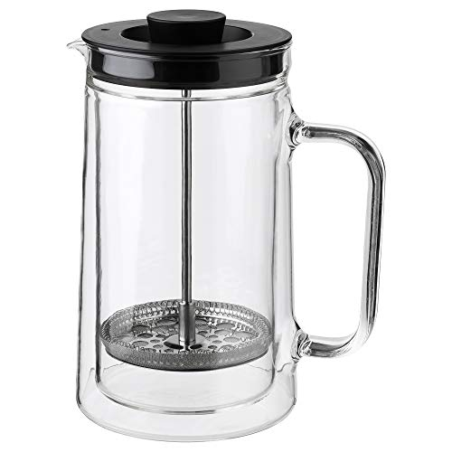 Ikea 903.589.76 Egentlig French Press - Cafetera (doble pared, cristal transparente)