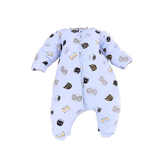 niños infantíl Ropa,Saco de dormir seguro del nacimiento de la cremallera, saco de dormir del bebé del algodón-2_Los 90cm