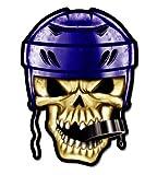 GT Graphics Hockey Skull - 3' Vinyl Sticker - for Car Laptop I-Pad Phone Helmet Hard Hat - Waterproof Decal