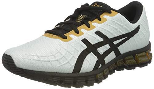 Asics Gel-Quantum 180 4, Running Shoe Homme, White/Black, 43.5 EU