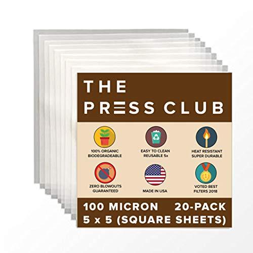 "100 Micron | Premium Nylon Rosin Tea Filter Screens | 5"" x 5"" Inch | 20 Pack | Zero Blowout Guarantee | All Micron & Sizes Available"