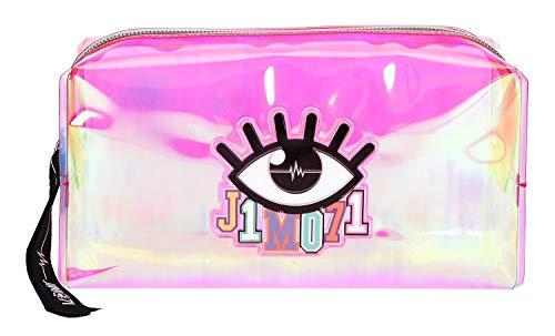Depesche 10321 - Kosmetiktasche, Lisa und Lena J1MO71, holo pink