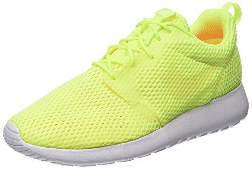 Nike Roshe One Hyperfuse Br, Scarpe Da Corsa Uomo, Verde (Volt/White), 41 EU