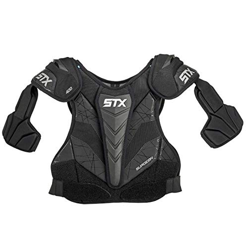 STX Lacrosse Surgeon 400 Shoulder Pad, Medium, Black