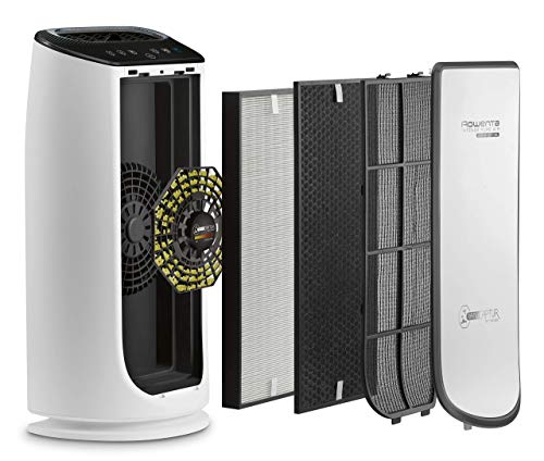Rowenta PU6080F0 Intense Pure Air Connect XL - Purificador de Aire, 4 niveles de filtración hasta 140 m² con sensor de nivel de contaminación y gas de ajuste automático conectable mediante app