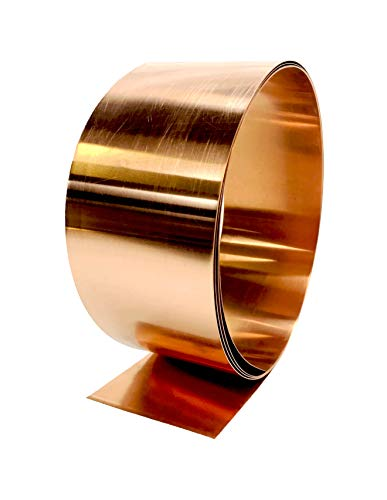 Copper Flashing - 16 oz 24 Gauge 10' Rolls in Various Widths for Roofing, DIY, or Contractor use-Lead Free Copper - can be Used with Pressure Treated Lumber (4' Width)