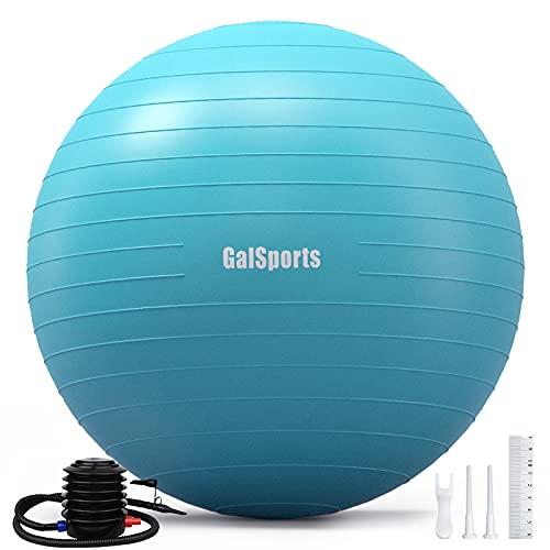 GalSports Exercise Ball (45cm-75cm), Anti-Burst Yoga Stability Ball