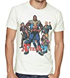 Mens The A-Team Retro Poster T-Shirt Medium White
