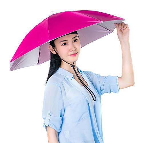 Soapow Sombrero de paraguas de pesca plegable Sun Rain Cap ajustable multifunción...