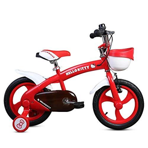 LIPENLI Las bicicletas de los niños muchachas de la manera Bicicletas Bicicletas de viajes al aire libre niños de 2-6 años de las muchachas Bicicletas mejores regalos for niños y niñas (color: rojo, T