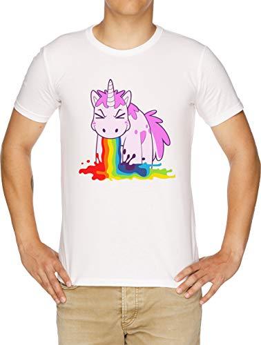 Unicornio Yo Vómito Los Arco Iris! Camiseta Hombre Blanco