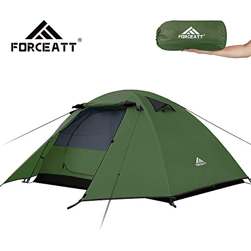 Forceatt Zelt 2 Personen Camping Wasserdicht 3-4 Saison,Ultraleicht Zelte Mit Kleinem Packmaß, Kuppelzelt Sofortiges Aufstellen Für Trekking, Outdoor, Festival