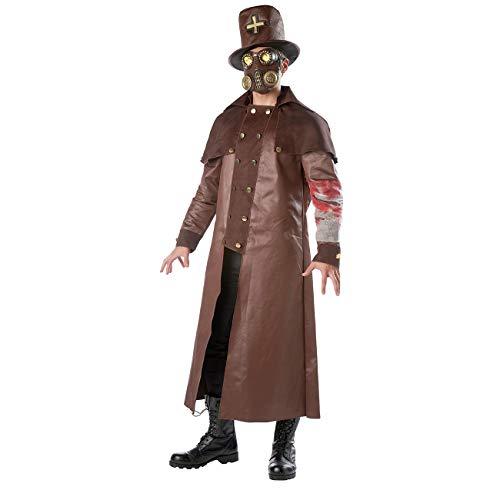 Neusky Pest Doktor Kostüm / Pest Arzt Kostüm Herren Kostüm Perfektes Kostüm für Halloween, Weihnachten , Karneval oder Mottoparties (Plague Doctor)