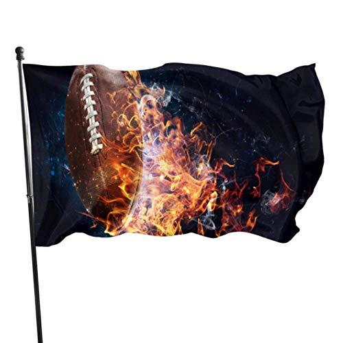 WDDHOME American Football Game Camper Hof Fahnen dekorative Garten Flagge Inhaber 3 x 5 Fuß lebendige Farben Qualität Polyester und Messing Ösen