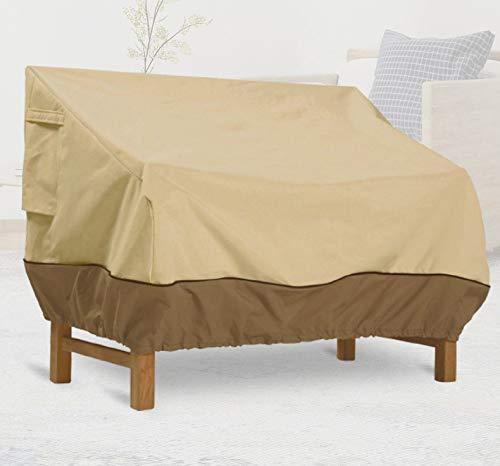Loveseat - Copridivano da giardino impermeabile 420D Oxford, copertura per mobili da esterni, copertura per sedie da patio, copertura di protezione per sedie, salotto