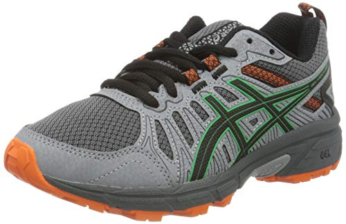 ASICS Unisex-Child Gel-Venture 7 GS Running Shoe, Carrier Grey/Cilantro, 39.5 EU