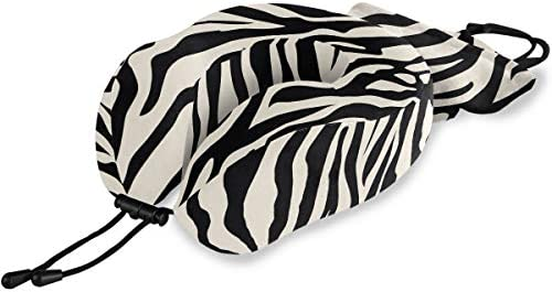 ALAZA Memory Foam Travel Pillow Animal Zebra Print Neck Pillow for Airplane Travel Kit with product image