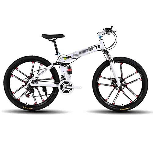 Mountainbike Mountainbike-Rennwagen Faltbare Fahrrad MTB Erwachsener Mountainbike Folding Straße Fahrräder for Männer und Frauen 26in Räder Geschwindigkeit Doppelscheibenbremse Mountainbikes Rennräder
