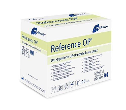 Meditrade 932175 Reference Latex Gepuderte OP-Handschuh, Steril, Größe 7,5 (100-er pack)