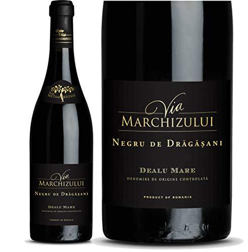 Geheimtipp Weinkenner – Weinrarität Via Marchizului Negru de Dragasani | Trockener Rotwein aus Rumänien | Seltene Rebsorte Negru de Dragasani 14,8% |12 Monate Barrique-Lagerung