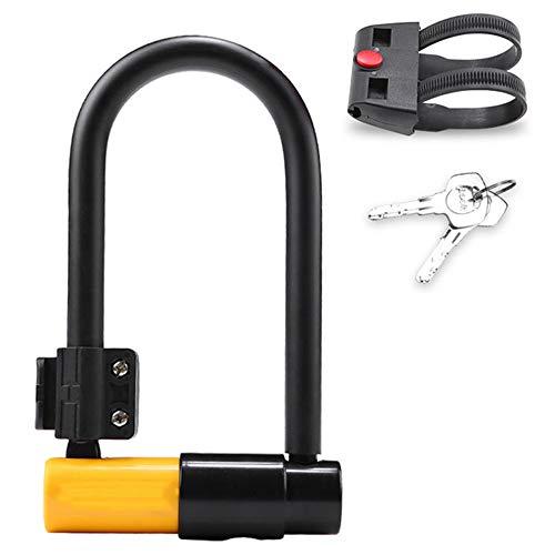 U-kabelslot met kabel, 115 cm/3,8 ft flexibele kabel, hoge weerstand, veiligheidsvergrendeling van de fiets met houder voor fietsen, motorfietsen en elektrische voertuigen.