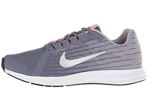 Nike Downshifter 8 (GS), Zapatillas de Trail Running Hombre, Multicolor (Light Carbon/Mtlc Pewter/Peat Moss/Black 000), 38 EU