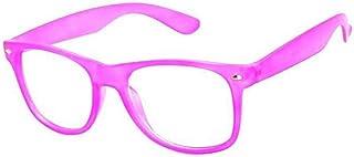 Boolavard Rétro Vintage couleur unisexe Punk Geek Classic style Nombre Zéro Effacer Objectif Lunettes de soleil