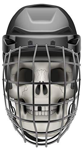 dekodino® Wandtattoo Eishockey Totenkopf Maske Jugendzimmer Sport Teenager