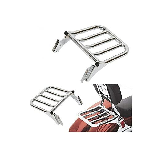 Chrome Sissy Bar Backrest Steel Luggage Rack for Harleyy Softail Dyna Fatboy FCKD1537