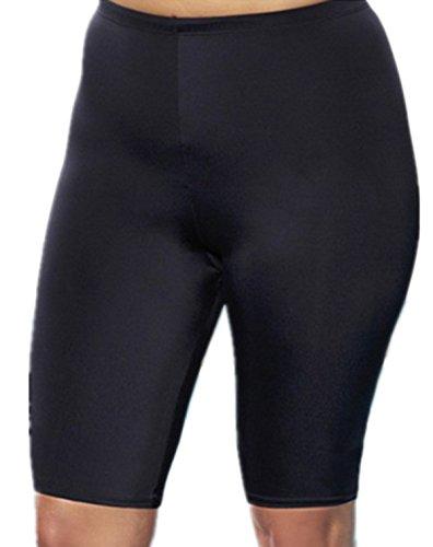 Ecolleciton@Damen Kleidung Shorts Badehose Ausbildung Kurz (XXL EU 42, SCHWARZ)