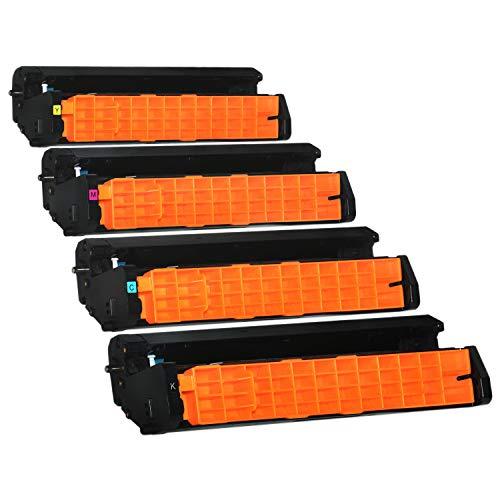 4 Trommeln kompatibel für Oki C3300 C3400 C3450 C3600 N Series - Schwarz 15.000 Seiten, Color je 15.000 Seiten