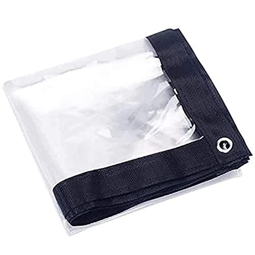 Lona Transparente Impermeable con Ojales 5x6m, Material De PE Plegable Lona Alquitranada...