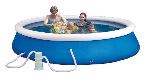 Planschbecken-Set (Quick-Up-Pool) Durchmesser: 305cm, Höhe: 76cm inklusiv e einer Filter Pumpe AC230V/DC12