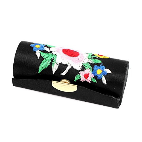 Sourcingmap Dame broderie florale Baume lèvres miroir boîtier Chap Bâton porte-Bijoux