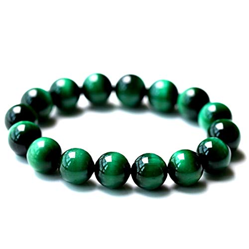 JIEHED Diabetes Relief Chrysocolla Bracelet 8mm Smooth Polished Round Shape Bracelet Healing Gemstone Beads Birthstone