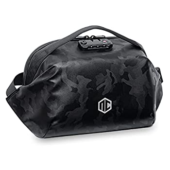 Neocity Urban Hybrid fanny pack and crossbody sling bag backpack Large size capacity with plus size length adjustable waist strap Featuring anti-theft TSA combination lock Fashionable design for men and for women Great for travelling hiking and everyday use Black Stealth Camouflage