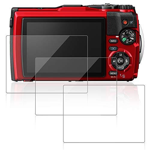 AFUNTA 3 paquetes de protectores de pantalla para Olympus Tough TG-6, películas protectoras de vidrio templado antiarañazos para cámara digital DSLR