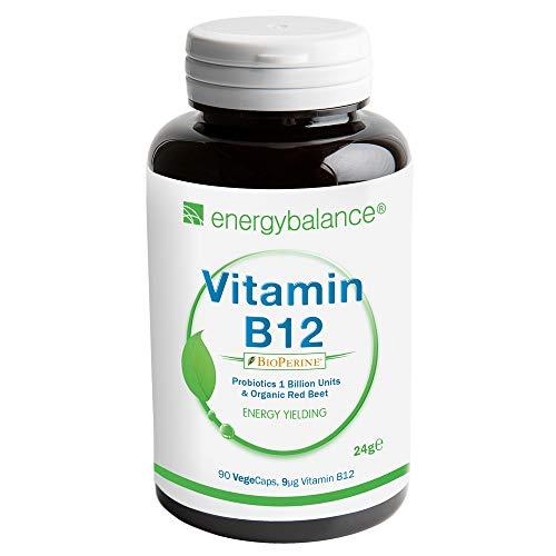 Biologisch actieve vitamine B12 7,5 µg + bioperine, 90 Vegecaps