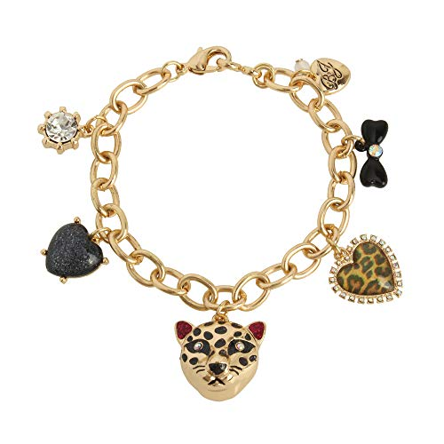 Betsey Johnson Leopard Charm Bracelet