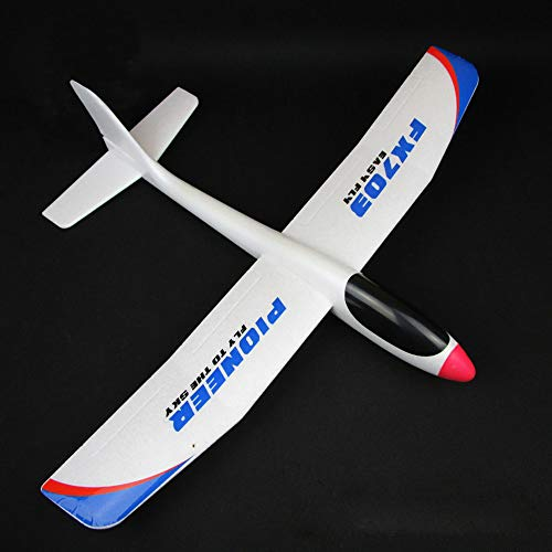 Goolsky FX-703 Segelflugzeug,Gleitflugzeug für Kinder,Fluggleiter aus Styropor,spannendes Wurf- und Fluggerät, Flugspielzeug DIY,690mm