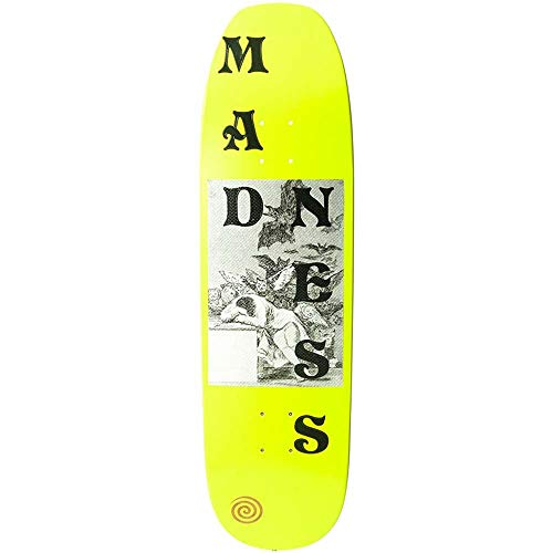 Madness Skateboarding Deck: Dreams Neon Yellow R7 8.75