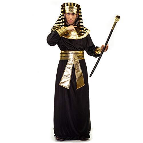 SEA HARE Disfraz de Faraón Egipcio para Hombre (Negro)