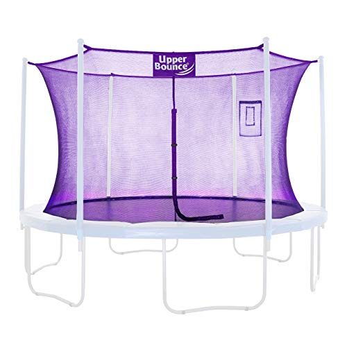 Upper Bounce Trampoline Safety Enclosure Replacement Net with Smartphone/Tablet Selfie & Livestream Pouch, Fits 15 FT Round Frame, Using 8 Poles (or 4 Arches) - Adjustable Straps, Purple