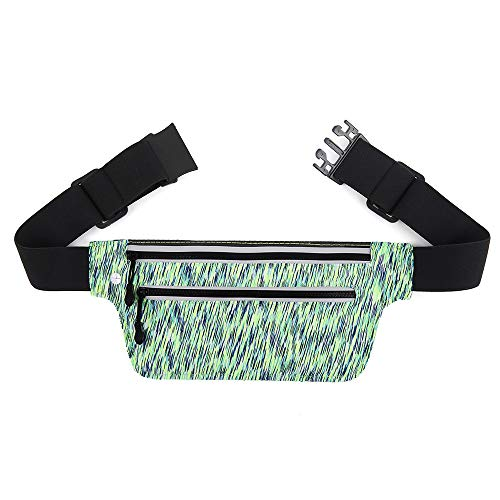 Waist Pack Running Belt for Men Women, Waterproof Pack Waist Bag Hip Pouch with Earphone Hole and Reflective Strip for Outdoor Camping Hiking Jogging