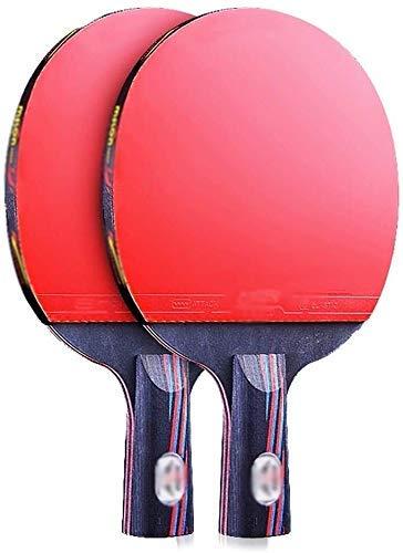 JRPT Raquetas de Ping Pong Profesional,Juego de Paleta de Ping-Pong duradero,Raquetas de Tenis de Mesa adecuado para actividades familiares, C